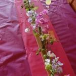 Chemin de table floral